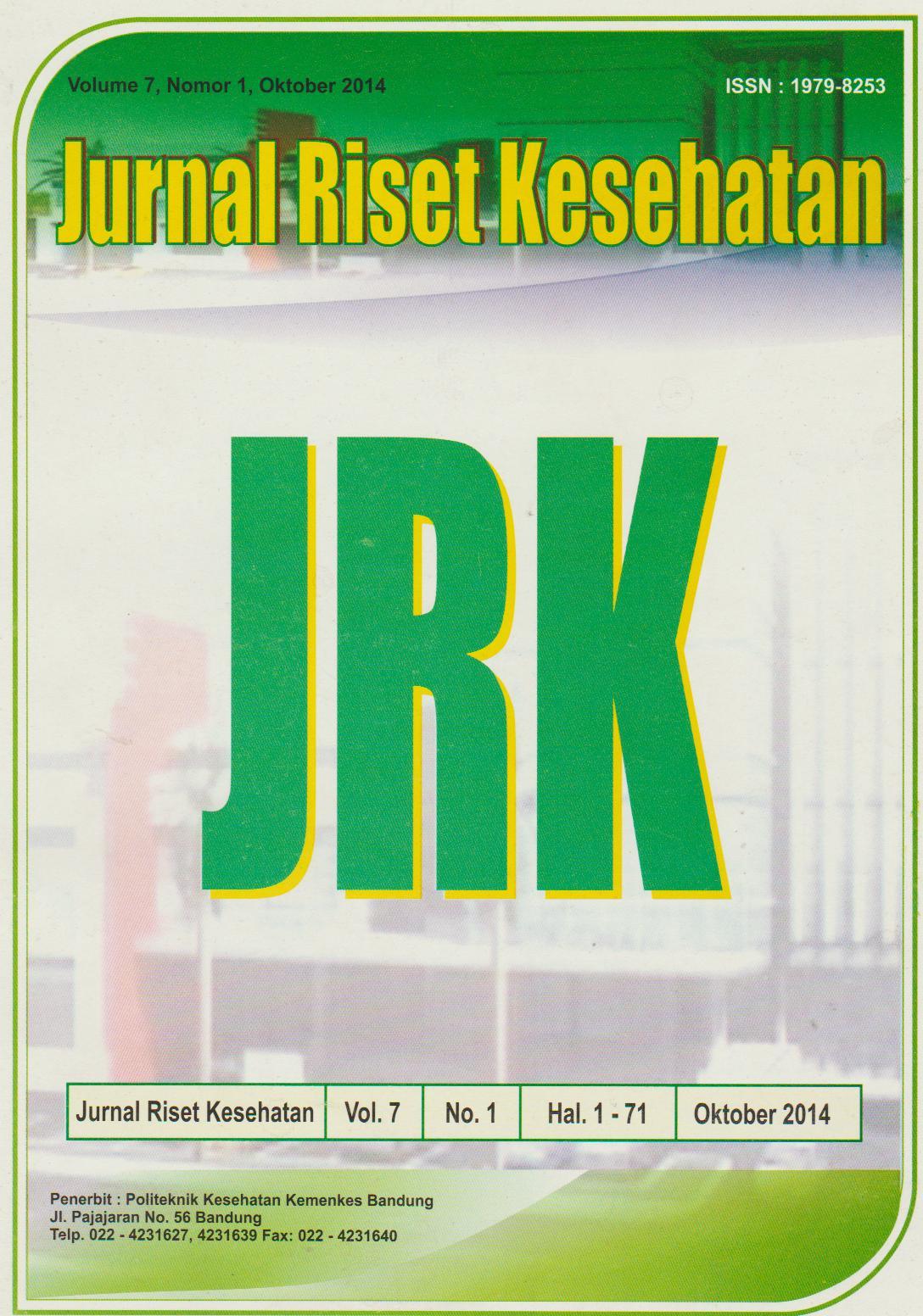 View Vol. 7 No. 1 (2014): Jurnal Riset Kesehatan Poltekkes Depkes Bandung